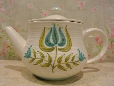 Vintage Franciscan Earthenware Tulip Time Tea Pot