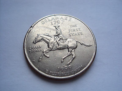 US 1999 Delaware State Quarter The First State 25 cent coin (+ Combined ship)
