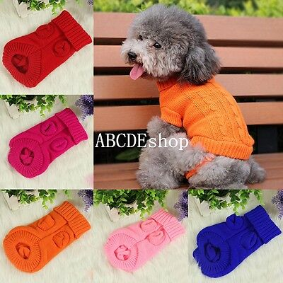 New Dog Cat Coat Winter Sweater Puppy Apparel Clothes Pet Supplies Products