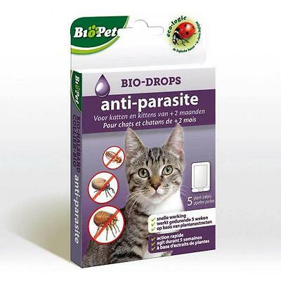 Traitement  chat - Bio-Drops anti-parasite BioPet sans Insecticide Chat