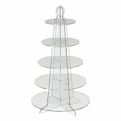 5 Tier Round Cup Cake Stand Wedding Birthday Party Acrylic Cupcake Display