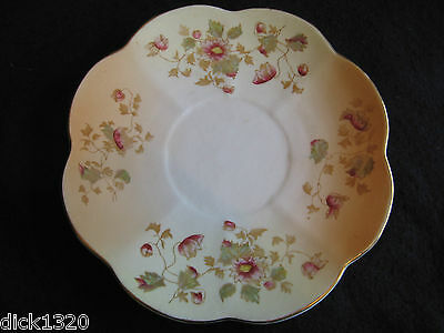 "VICTORIAN HAND-PAINTED 9.5"" CAKE/BREAD PLATE  ALLERTONS 'TRILBY' c.1900"