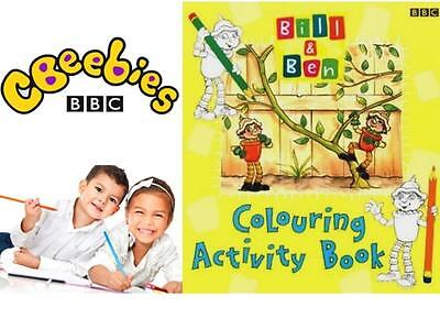 BBC Bill & Ben Kids Boys Girls Colouring Activity Drawing Painting Craft Book