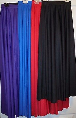 Body Wrappers Dance Praise Worship Full Circle Skirt 4 Color Choices #502