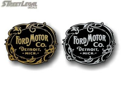 "2 Ford Motor Company Vinyl 5"" Decals Vintage Style F250 F150 Truck Car Stickers"