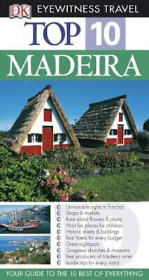 DK Eyewitness Top 10 Travel Guide: Madeira by DK Travel Paperback Book The Cheap