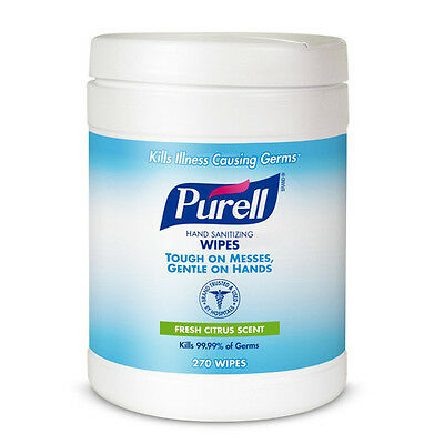 Purell 270 Wipes/Can Sanitizing Hand Wipes (6-Pack) 911306CT New