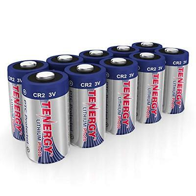 10 pcs Tenergy Propel CR2 Lithium Battery with PTC Protection