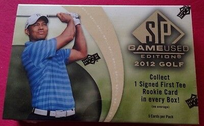 2012 UD SP Game-Used Golf HOBBY Pack/Box 1 Auto (Tiger Wood  Michael Jordan)?