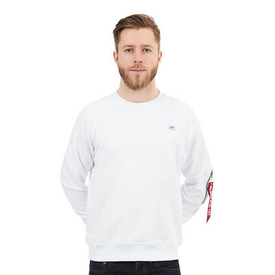 Alpha Industries - X-Fit Sweater White Pullover Rundhals