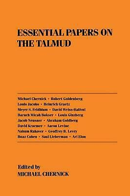 Essential Papers on Talmud by Michael Chernick (English) Paperback Book Free Shi