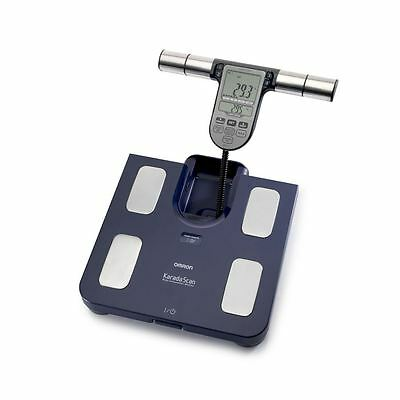 Omron BF511 Dark Blue Family Body Composition Fat Percentage Monitor Scale New
