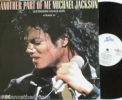 """MICHAEL JACKSON ~ Another Part Of Me ~ 4 TRACK 12"""" Single PS"""