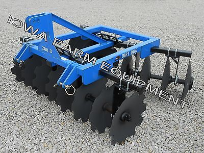 "Dirt Dog 73"" 3Pt H-Dty Disc Harrow, Quick Hitch Compat! - DisplayUnitSalePriced!"