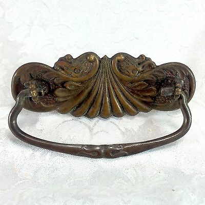 Antique Vintage Drawer Bail Handle Stamped Brass Figural Creature Dolphin • CAD $10.10