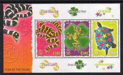IRELAND MNH 2001 Greeting Stamps - Chinese New Year - Year of the Snake-M/S