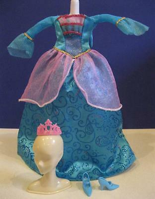 doll sz ISLAND PRINCESS singing ROSELLA REPLACEMENT Ball Gown Dress Tiara Shoes