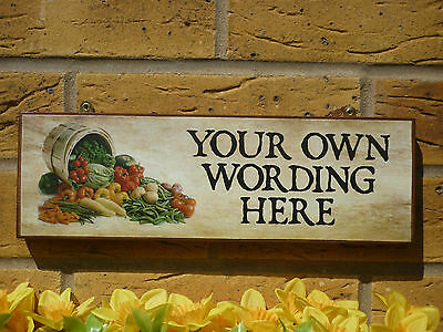 Personalised Garden Sign Own Name You Choose The Wording Vegetables Allotments