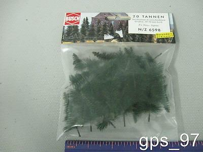 Z / N - Busch 6598  Fir Trees to stick into the Ground (Pack of 20 Pieces) - NIB