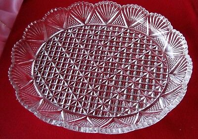 CUT CRYSTAL SERVER Large  DISH/PLATTER Perfect