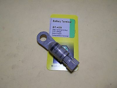 Battery Connection Compression Terminal - Side Terminal And Stud - 2 & 1 Gauge