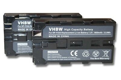 2x BATTERIE 1800mAh POUR Sony CCD-TR67 / CCD-TR716
