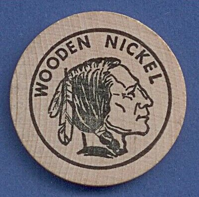 Medaille Token Holz Wooden Nickel Sembach Stamp + Coin Club 1969 Ø 38 mm A11/298