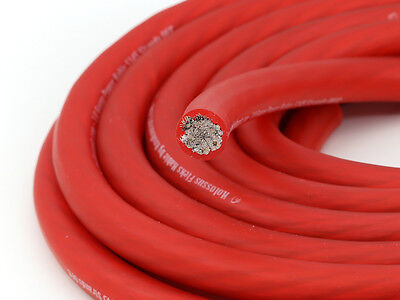 KnuKonceptz Kolossus Flex 4 Gauge Red OFC Power Wire Tinned Copper Cable AWG 5M