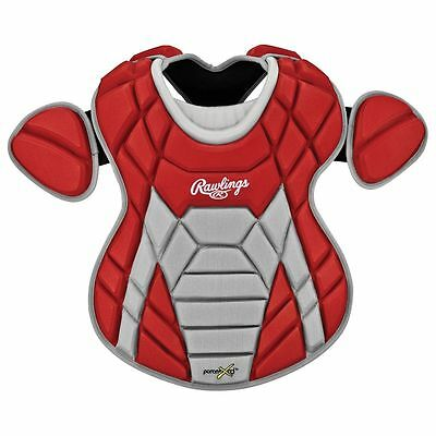 Rawlings Xrd Series Teen 12-16 Catchers Leg Guards/chest Protector Set - Red