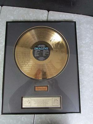 John Lennon 24 Carat 'Imagine' LP Gold record with Piece of Door, Beatles