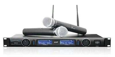 Technical Pro WM1201 Professional 2-Channel UHF Dual Wireless Microphone System