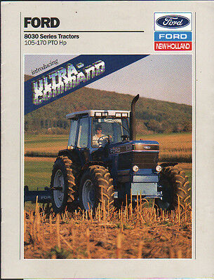 "Ford 105-170hp ""8030 Series"" Tractor Brochure Leaflet"