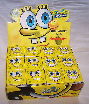 Bulk 36x SpongeBob SquarePants Printed Cotton Magic Face Washer 30cm x 30cm New