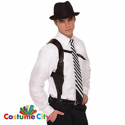 Adults Roaring 20s Gun Holster Police Gangster Fancy Dress Costume Accessory