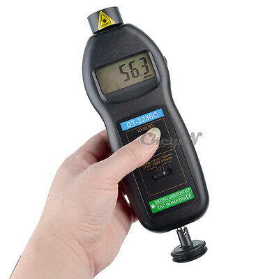 LCD 2 in 1 Digital Non-contact Laser RPM Rotation/ Photo Tach Contact Tachometer