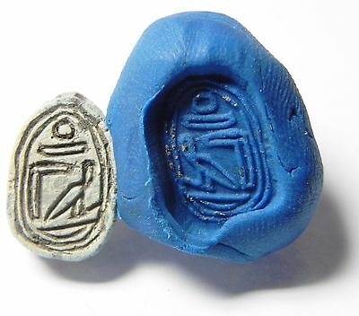 Zurqieh -Q105- Ancient Egypt , Steatite Scarab , 3Rd Intermediate Period
