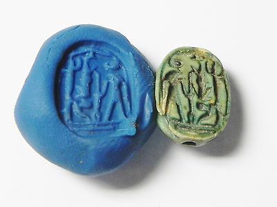 Zurqieh -Q107- Ancient Egypt , Steatite Scarab , Ramsis Ii Period. 19Th Dynasty