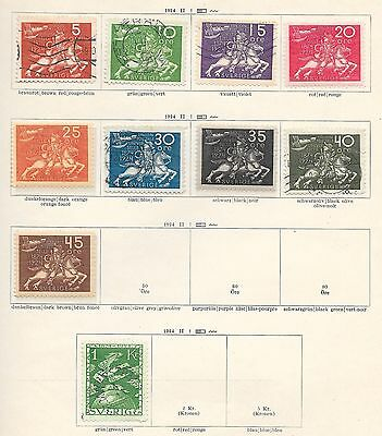 Sweden stamps 1924 Collection of 10 stamps UPU  HIGH VALUE!