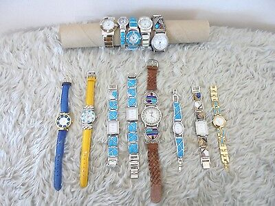 Lot of 13 Southwestern Style Wrist Watches Name Brands