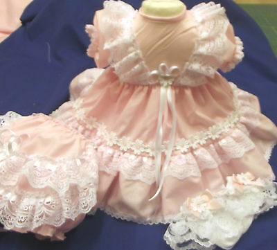 Dream Baby Pink Daisy Netted Dress  Nb 0-3 3-6 6-12 Months  Or Reborn Dolls