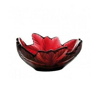 Lalique Compiegne Bowl Red Brand New In Box Crystal #10330000 Paris Save$$ F/sh