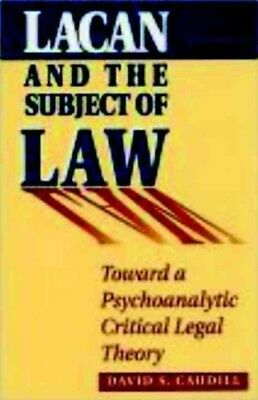 Lacan and the Subject of Law by David S. Caudill Paperback Book (English)
