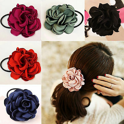 CHIC Women Hair Band Rope Elastic Flower Ponytail Holder Scrunchie Accessories