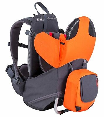 Phil & Teds Parade Backpack Baby Carrier - Orange / Grey - New! Free Shipping!