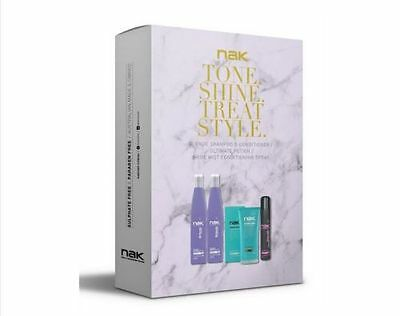 NAK Blonde Shampoo & Conditioner + Ultimate Potion 150ml and Shine Mist Pack