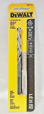 New DeWalt (DWA1414) 5/16 in. Drill and 3/8 in. x 16 NC Tap Set Free Shipping
