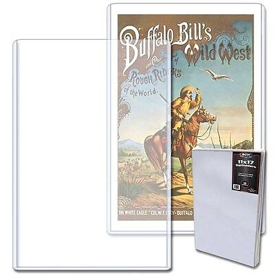 100 New BCW 11X17 Art Print Toploaders  Poster Menu Photo Frame