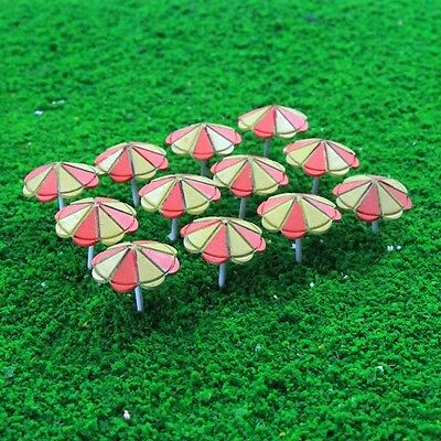 TYS41100Y 12pcs Model Train Sun Umbrella Parasol 1:100 TT Scale Garden Sea Beach