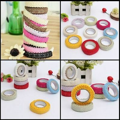 DIY unilateral Fabric Lace Washi Tape Ribbon Cotton Trim Self Adhesive Stickers