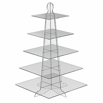 Displaypro 5 Tier Acrylic CupCake Stand Party Birthday Plastic Cup Cake Display